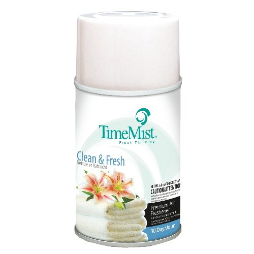 TimeMist 1042771 Metered Fragrance Dispenser Refills, Clean N Fresh, 6.6 oz Aerosol (Case of 12)