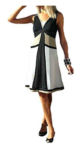 APaRT georgettekleid design patchwork noir/blanc/taupe taille 32