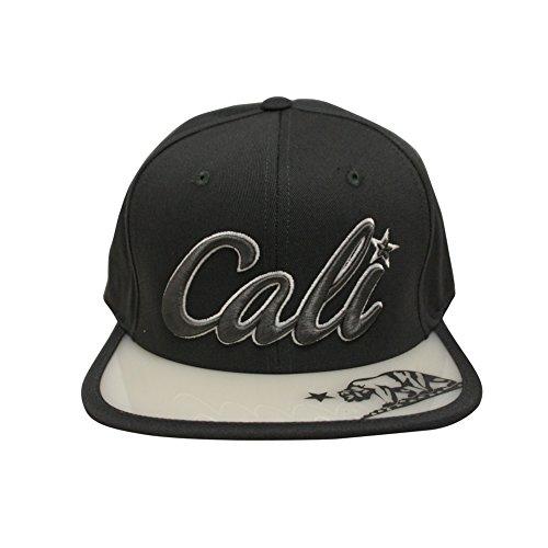 Muse Looks Cali Script Snapback Hat with Ultraviolet (UV) Filter Bill ()