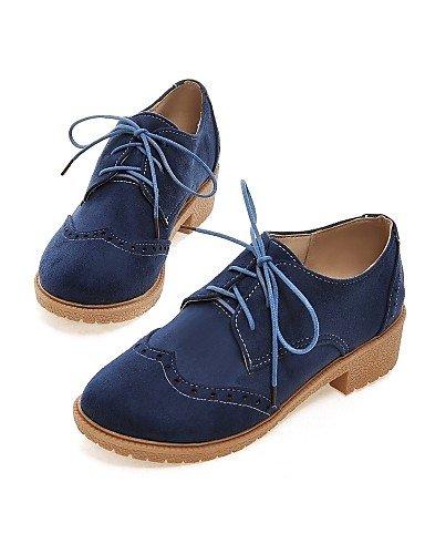 Bleu confort noir talon richelieu Eu35 Njx extérieure Black Marron Cn34 Femme Décontracté Travail Uk3 Bas Arrondi amp; Bout Bureau us5 Hug Chaussures Sport x6qzw7xv4