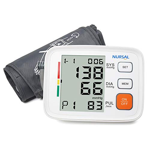 Upper Arm Digital Blood Pressure Monitor with WHO Indicator and Large LCD Screen for 2 Users(2 * 90 Storage), Automatic Electronic Monitor with Portable Bag for Home use(Bracelet 22 cm-42 cm)