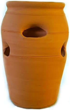 Craven Pottery 2 Classic Handmade Terra Cotta Clay Strawberry Jar Planter