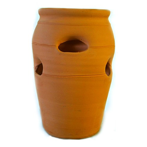 (Craven Pottery #2 Classic Handmade Terra Cotta Clay Strawberry Jar Planter)