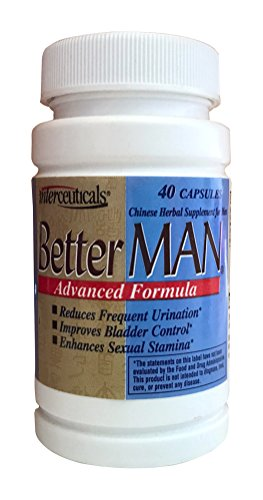 BetterMAN 3-in-1 Supplement for Men-Better Bladder Control* Prostate Health* Enhanced Sexual Stamina* - Fewer Bathroom Trips at Night, Sleep Better*- Interceuticals (4 pack) by Interceuticals