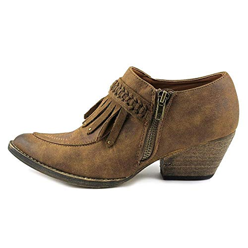 Very Volatile Womens Finlandia Pointed Toe Ankle Cowboy Boots, Tan, Size 6.5