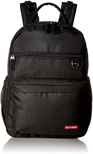 Skip Hop Duo Signature Diaper Backpack, Black