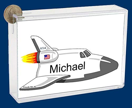 Pesonalized Bank: Space Shuttle Great for Future Astronaut, Childs Room dÃcor