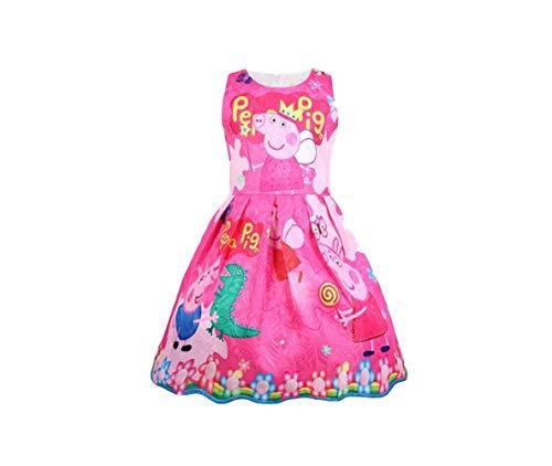 (Moebao Lovely Princess Pig Cartoon Dress 3~8 yeas Pink)