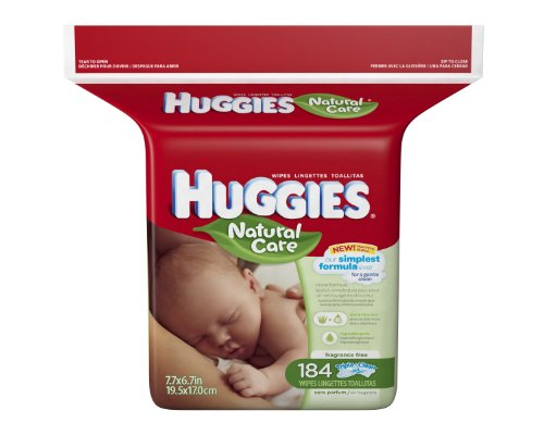 harga Huggies Natural Care Fragrance Free Baby Wipes, 552 Total Wipes 184 Count (Pack of 3), Packaging May Vary Hargadunia.com