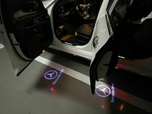 BAILONGJU 4pcs LED Car door courtesy lights laser projector Logo Ghost Shadow Light compatible with Mercedes Benz