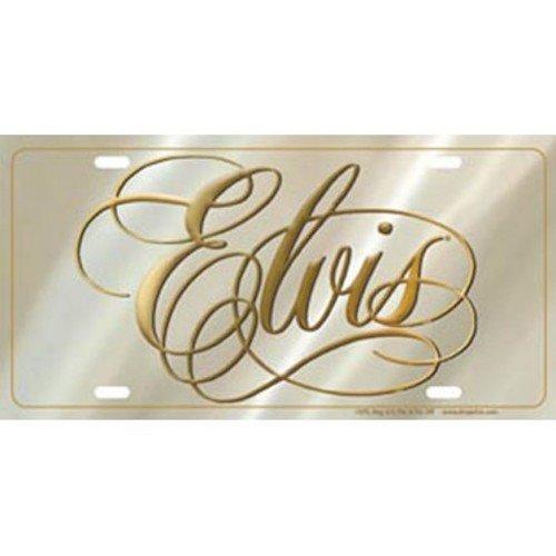 Elvis Script License Plate ()