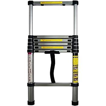 Myifan Telescopic Ladder Multi-Purpose Aluminium Telescoping Ladder Extension Extend Portable Ladder Foldable Ladder EN131Standards 4.1M // 13.5Ft