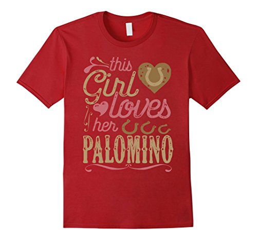 Mens Palomino Horse Shirt - Palomino Horse Lover Tshirt Gift 2XL Cranberry
