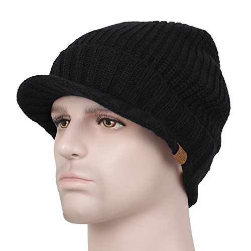 knit cap with bill - 4