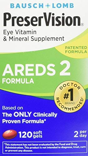PreserVision AREDS 2 Eye Vitamin & Mineral Supplement with Lutein and Zeaxanthin, Soft Gels, 2Pack (180ct each) Fx&kH