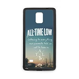the Case Shop- All Time Low Band TPU Rubber Hard Back Case Silicone Cover Skin for SamSung Galaxy Note4 , n4xq-386