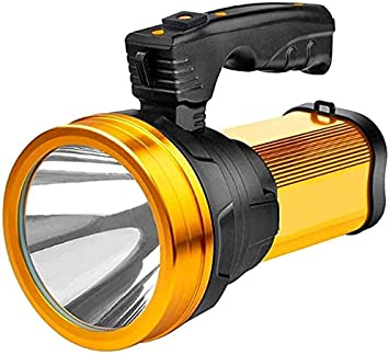 LED Searchlights Hand Held Torch Flashlight Spotlight Rechargeable Light Tool UK