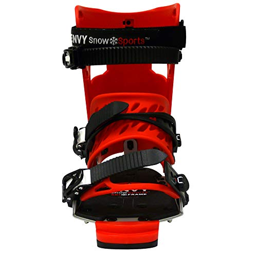 Envy Ski Boot Frame - Comfortable Ski Boots (Red/Red, Large)