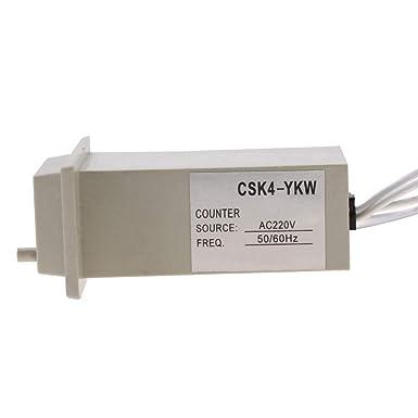 CSK4-YKW plástico de 4 dígitos Contador De Pulso electromagnético AC 220V 50 ~ 60Hz Nuevo