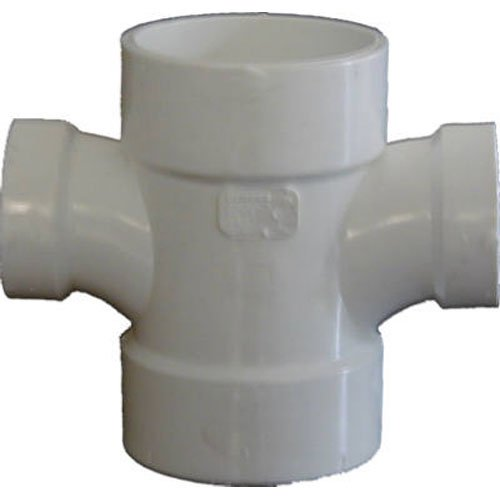 (Genova Products 73542 Reducing Double Sanitary Tee Pipe Fitting, 4