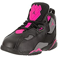 0e43dc4d9ea Jordan Nike Toddlers True Flight GT Black Dark Grey Deadly Pink Basketball
