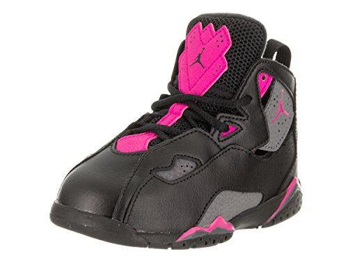 Jordan Nike Toddlers True Flight GT Black/Dark/Grey/Deadly/Pink Basketball Shoe 7 Infants - Black Jordans Womens