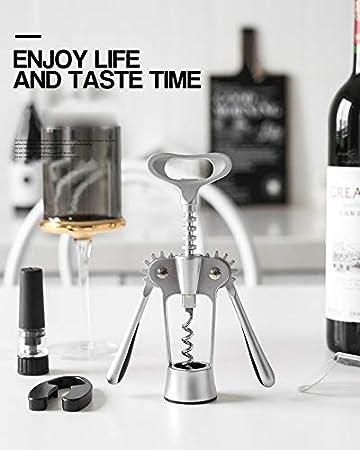 HH- Abrebotellas Abridor de Vino Plateado - Sacacorchos de Abridor de Botellas de Vino de Alta Gama - Sacacorchos Manuales Premium para Todas Las Botellas de Vino Y Cerveza (Color : Style 1)