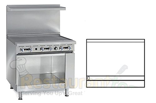 Imperial Commercial Restaurant Range 36'' Griddle 1 Cabinet Base Natural Gas Model Ir-G36-Xb by Imperial