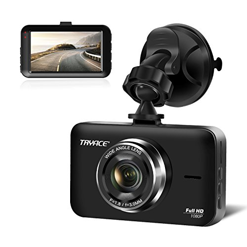 TryAce Dash Cam FHD 1080P 3 Inch Screen Dash Camera Wide Angle Car Camera with G-Sensor,Parking Monitor, WDR, Loop Recording, Night Vision【2018 Upgraded】