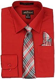 Amazon.com: Red - Dress Shirts / Button-Down &amp Dress Shirts ...