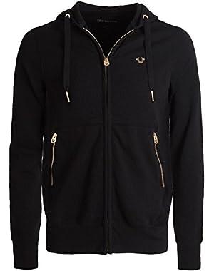 Men's Zip-Through Hoodie Black