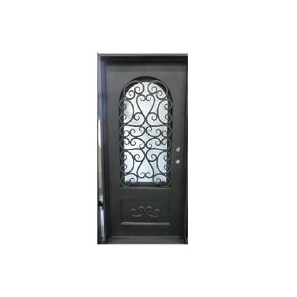 Custom Made doble exterior frontal entrada único Hierro forjado puerta de cristal puertas – Ito