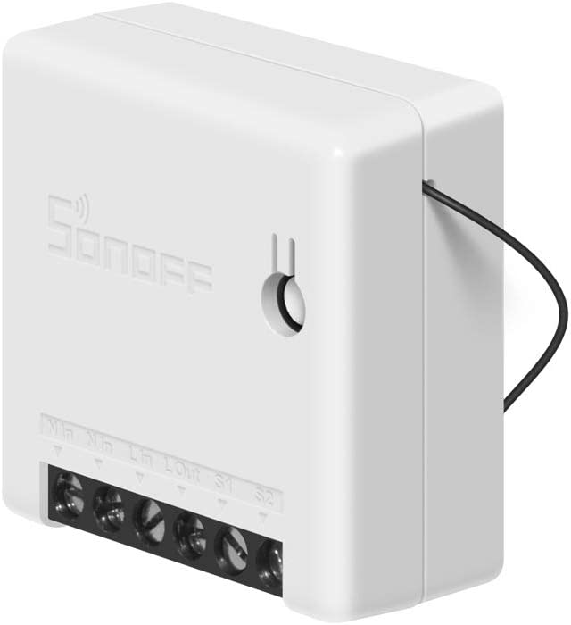 SONOFF MINI 10A Smart WiFi Wireless Light Switch, Universal DIY Module for Smart Home Automation Solution, Compatible with Alexa & Google Home Assistant, Compatible with IFTTT, No Hub Required