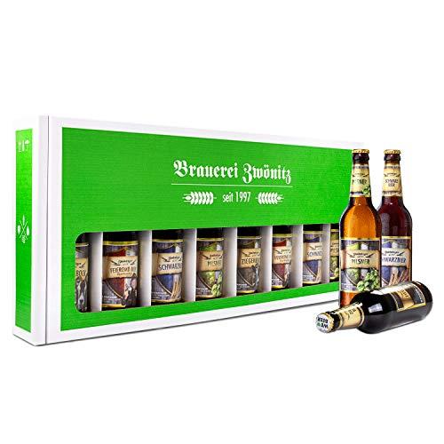 Brauerei Zwönitz Männerhandtasche Bier/Party Bier Set mit 8 Bieren/Bier Geschenke/Männer Handtasche als Bier Geschenk…