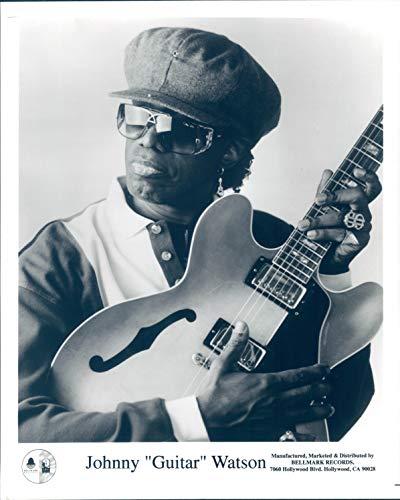 Vintage Photos 1995 Press Photo Johnny Watson Guitar Musician Blues Soul Funk Singer Star 8X10