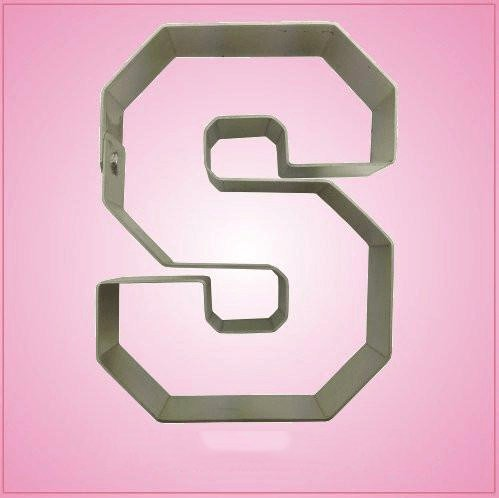 Varsity Letter S Cookie Cutter 4.25 Inch (Metal) aluminum ()