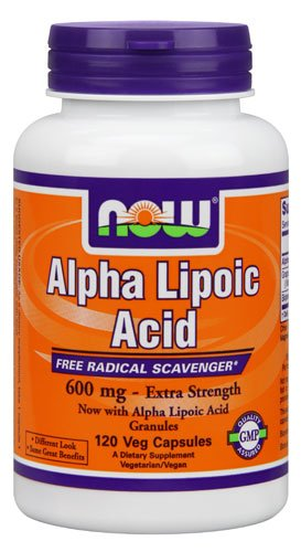 NOW Foods Alpha Lipoic Acid Extra Strength -- 600 mg - 120 Veg Capsules - 3PC by NOW