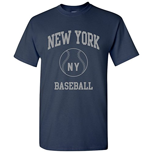 New York Classic Baseball Arch - Stadium, Jersey Team Sports, Batter, Pitcher T-Shirt - Large - (Yankees Pitcher)