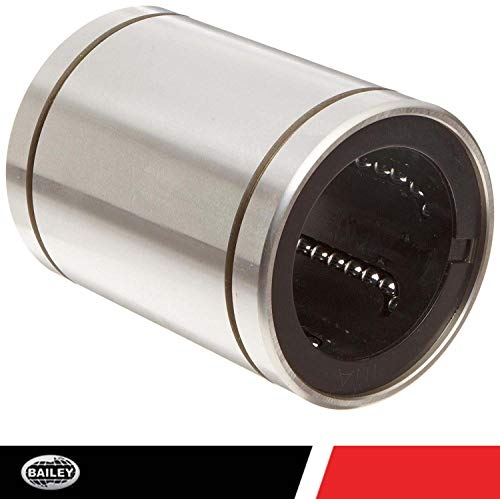 """INA KBZ04 Linear Ball Bearing, Closed Type, Unsealed, Alloy Steel, Inch, 1/4"""" ID, 1/2"""" OD, 48 lbs Dynamic Load Capacity"""