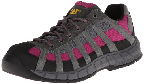 Caterpillar Women's Switch Steel Toe Work Shoe,Black/Baton Rouge,6.5 W US by Caterpillar