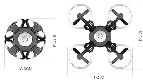 Drone avec CaméRa Drone AéRien Drone TeléCommande Avion Jouet Mini SphéRique WiFi ContrôLe Avion à Quatre Axes éQuipé De ContrôLe Vocal, White