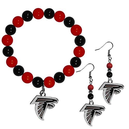Siskiyou NFL Atlanta Falcons Fan Bead Earrings & Bracelet Set]()