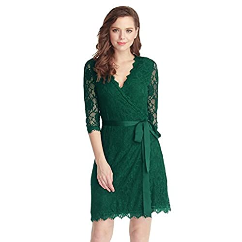 Only Curvy Wrap Short Sleeved Dress Women Green Achats En Ligne En Ligne Vente H4Tho8f