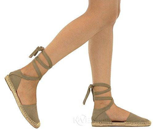 - SODA Womens Layout Espadrille Flat Sandal Shoes Clay IMSU 5.5