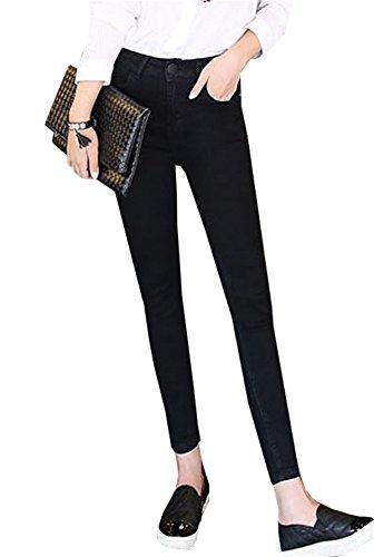 8 Basic Cotone Skinny Attillati Jeggings Jeans In Dabag 7 Alta Primavera Unita Donna Nero Pants Tinta Da Ragazzi Pantalone Denim Invernali Vita 8vXROwxq