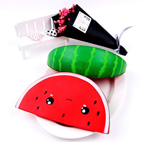 Able Kawaii Anti-stress Squishy Watermelon Mobile Phone Strapes Super Slow Rising Squeeze Stretch Bread Cake Kid Toy Gifts Mobile Phone Accessories