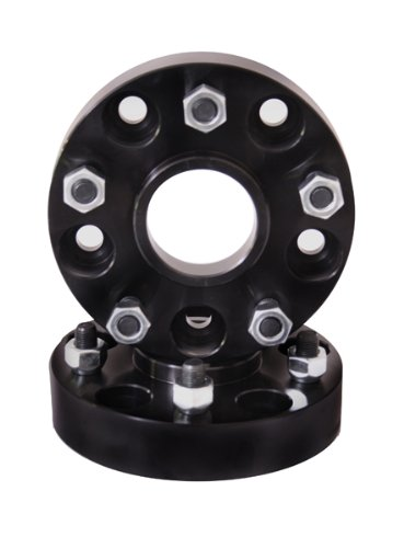 Rugged Ridge 15201.10 Black Wheel Spacer Kit Adaptor - Pair Omix-Ada