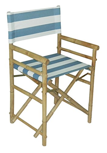 Zew Replacement UV Treated Color Durable Canvas for Bamboo Folding Directors Chairs, Navy Striped by Zew