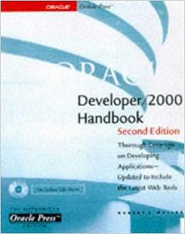 Oracle Developer 2000 Handbook