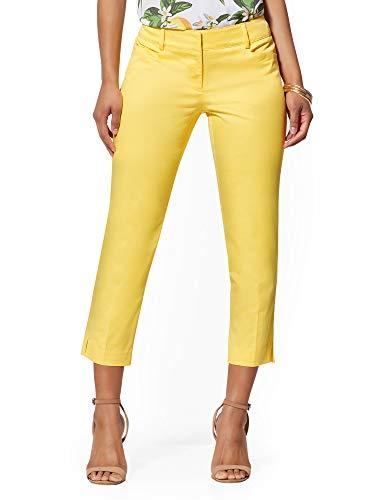 New York & Co. Women's Petite Crop Slim-Leg Pant - 2 Delightful Daisy (Crop Daisy)